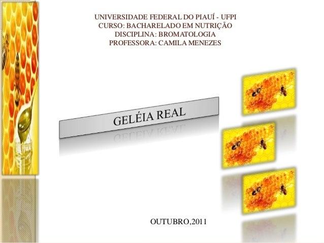 UNIVERSIDADE FEDERAL DO PIAUÍ - UFPI CURSO: BACHARELADO EM NUTRIÇÃO DISCIPLINA: BROMATOLOGIA PROFESSORA: CAMILA MENEZES  O...