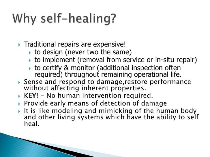 self healing operating systems essay To the original natural self-healing system of history of art and cybernetics in essays operating space for humanity and proposals.