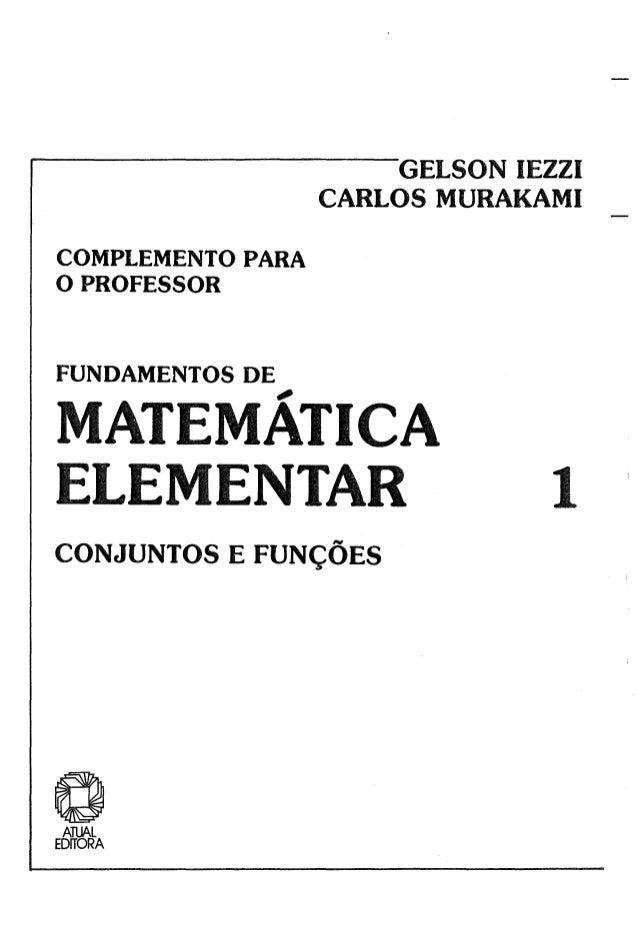 fundamentos da matematica elementar volume 1 gelson iezzi