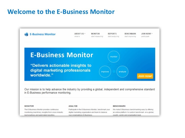 Welcome to the E-Business Monitor