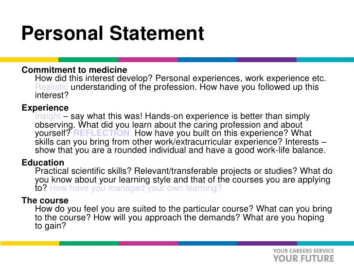nhs personal statement