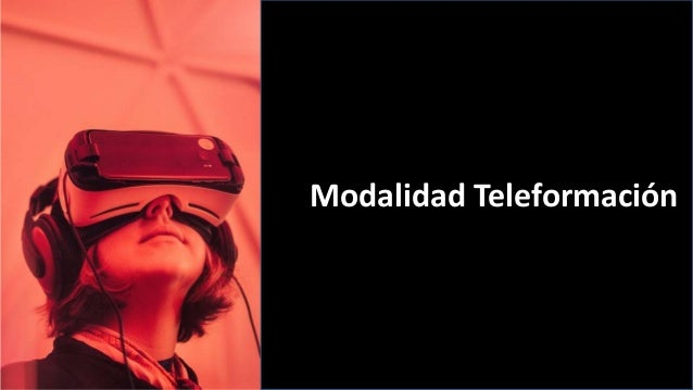 Modalidad Teleformación