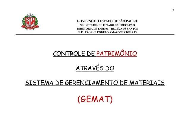 1 GOVERNO DO ESTADO DE SÃO PAULO SECRETARIA DE ESTADO DA EDUCAÇÃO DIRETORIA DE ENSINO – REGIÃO DE SANTOS E.E. PROF. CLEÓBU...