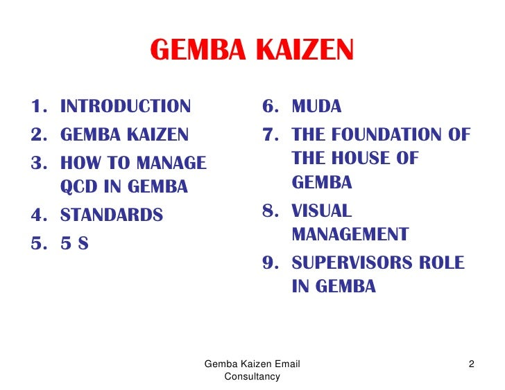 GEMBA KAIZEN PRINCIPLES EBOOK » Pdf Zone