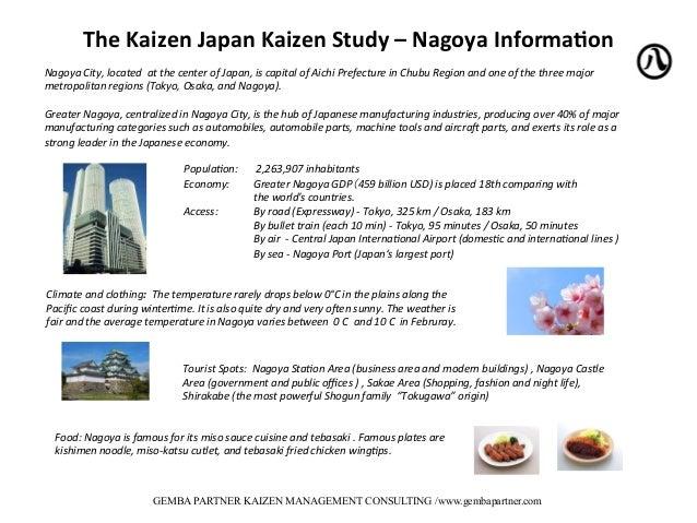 Gemba Partner Kaizen Study Japan Program - 2015