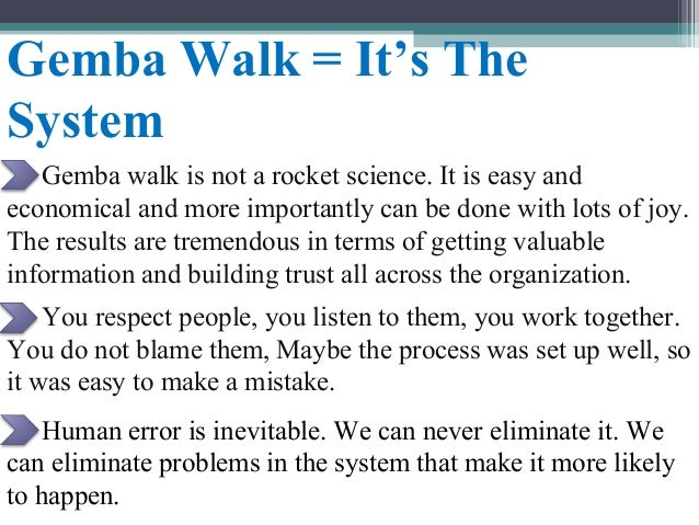 Gemba Walk Discussion