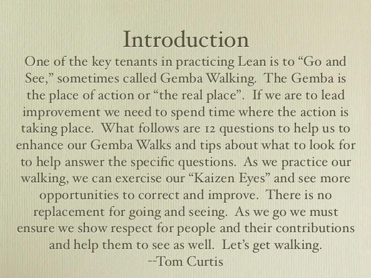 Gemba Walk Questions Slide 3