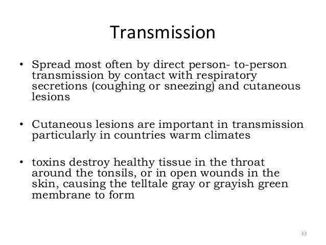 Methods of infection transmission