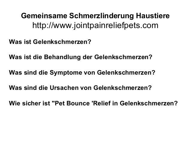 Gemeinsame Schmerzlinderung Haustiere http://www.jointpainreliefpets.com Was ist Gelenkschmerzen? Was ist die Behandlung d...