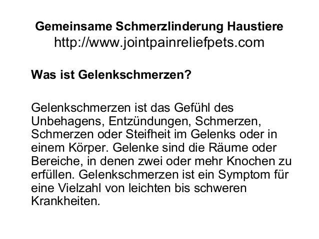 Gemeinsame Schmerzlinderung Haustiere http://www.jointpainreliefpets.com Was ist Gelenkschmerzen? Gelenkschmerzen ist das ...