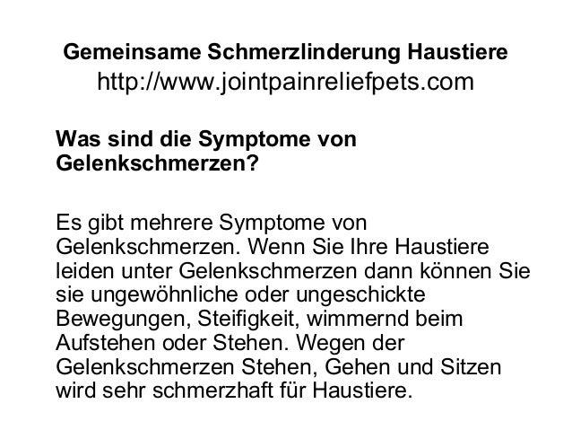 Gemeinsame Schmerzlinderung Haustiere http://www.jointpainreliefpets.com Was sind die Symptome von Gelenkschmerzen? Es gib...