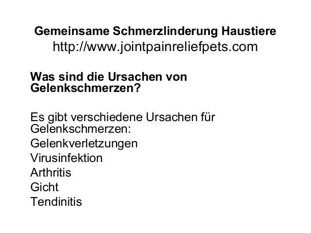 Gemeinsame Schmerzlinderung Haustiere http://www.jointpainreliefpets.com Was sind die Ursachen von Gelenkschmerzen? Es gib...