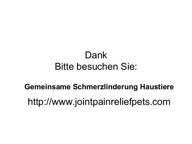 Dank Bitte besuchen Sie: Gemeinsame Schmerzlinderung Haustiere http://www.jointpainreliefpets.com