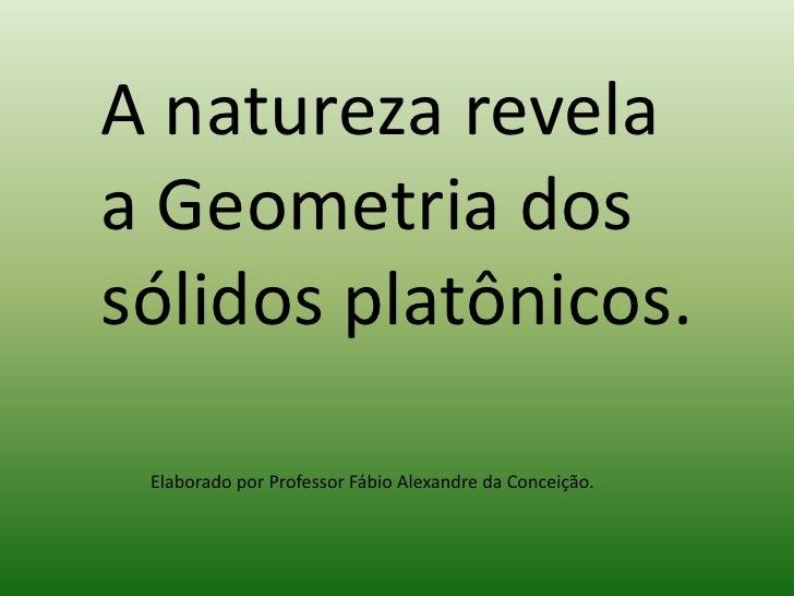 A natureza revela a Geometria dos sólidos platônicos.<br />Elaborado por Professor Fábio Alexandre da Conceição.<br />