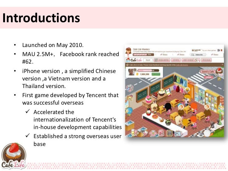 Introductions  Introductions • Launched on May 2010. • MAU 2.5M+,Facebook rank reached   #62. • iPhone version , a simplif...