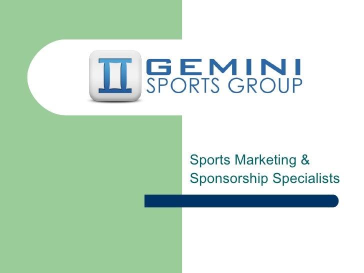 Sports Marketing & Sponsorship Specialists