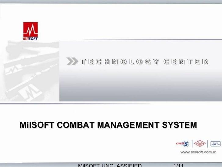 MilSOFT COMBAT MANAGEMENT SYSTEM