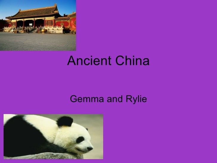 Ancient China Gemma and Rylie