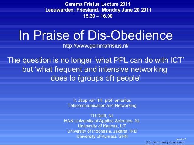 Gemma Frisius Lecture 2011           Leeuwarden, Friesland, Monday June 20 2011                          15.30 – 16.00   I...
