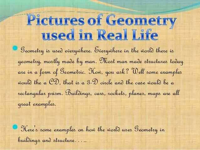 geometry in everyday life examples