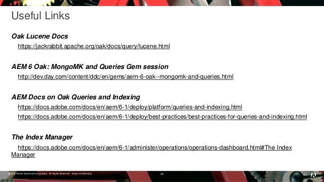 AEM GEMs Session Oak Lucene Indexes