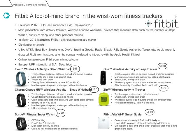 fitbit swot Fitbit, one of the pioneers in wearables, reported a massive 26% decline in revenue for its fiscal year 2017 the company is looking to move away from b2c sales and work with businesses by harnessing its users' data.