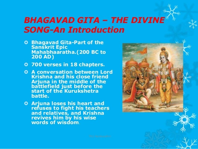 bhagavad gita chapter notes Bhagavad gita classes that you can watch online for free that have changed the  lives of over 22000 people in 102  chapter 1 summary of verses 1 to 3:.