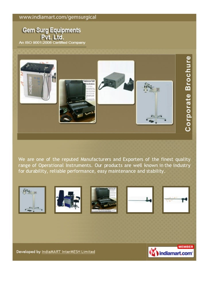 We are one of the reputed Manufacturers and Exporters of the finest qualityrange of Operational Instruments. Our products ...
