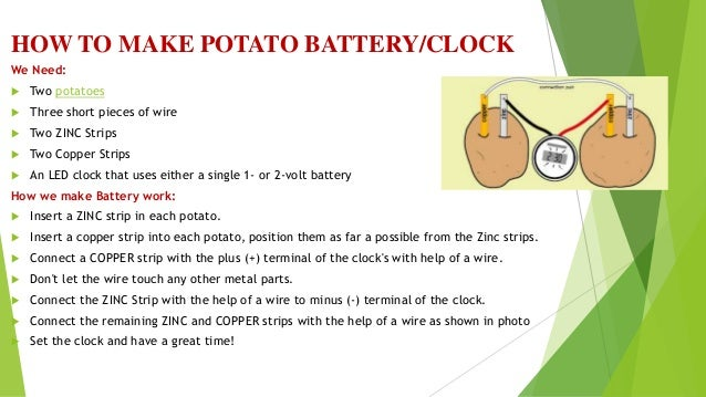 potato battery science project Browse computer science courses and specializations computer science  specializations and courses teach software engineering and design, algorithmic .