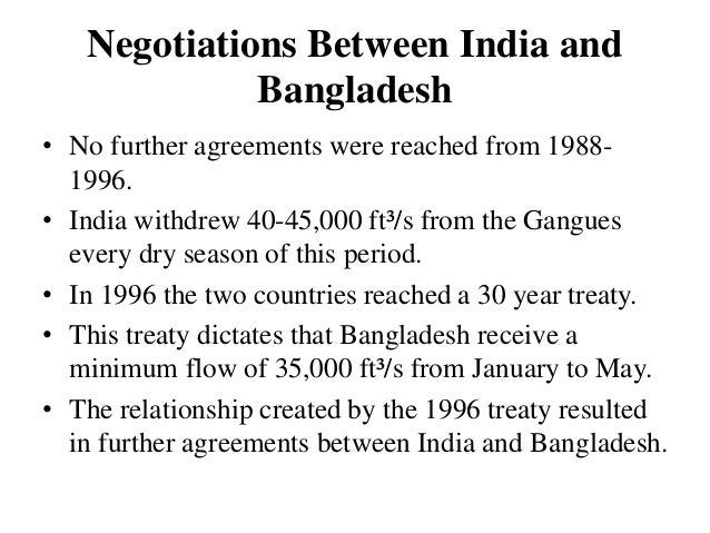 effects of the ganges treaty on Treaty between the government of the people's republic of   giving the implications of the sharing arrangement under annexure i is at.