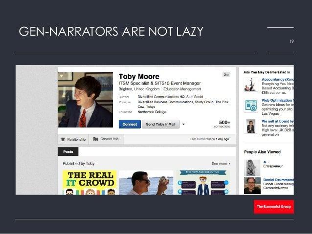 GEN-NARRATORS ARE NOT LAZY 19