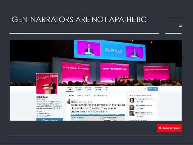 GEN-NARRATORS ARE NOT APATHETIC 22