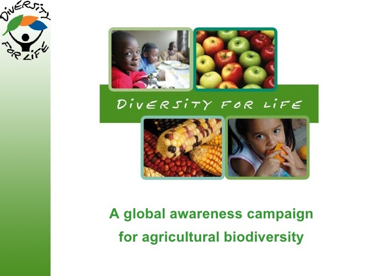 A global awareness campaign for agricultural biodiversity