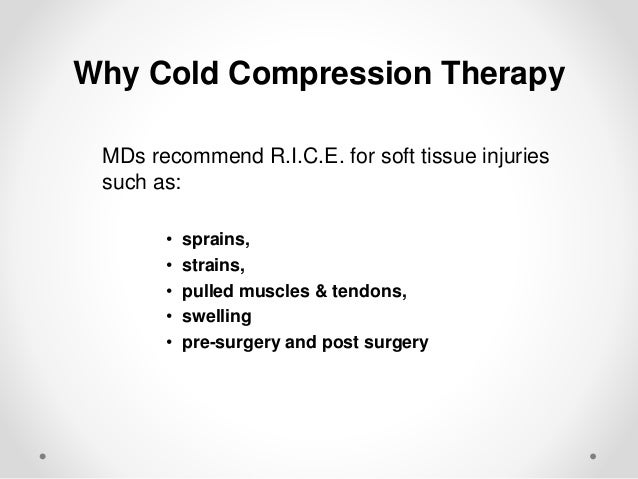 What is R.I.C.E.? REST: Do not stress the injured area by any activity which causes pain. ICE: Apply ice for 15 minutes se...