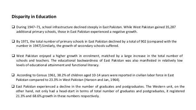 Political and Socio-economic Exploitation of East Pakistan