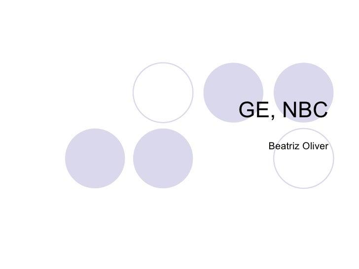GE, NBC Beatriz Oliver