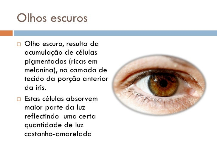Genética - Cor dos Olhos Slide 3