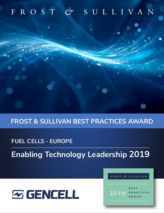FROST & SULLIVAN BEST PRACTICES AWARD Enabling Technology Leadership 2019 FUEL CELLS - EUROPE