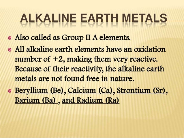 Alkaline and alkaline earth metals alkaline earth metals urtaz