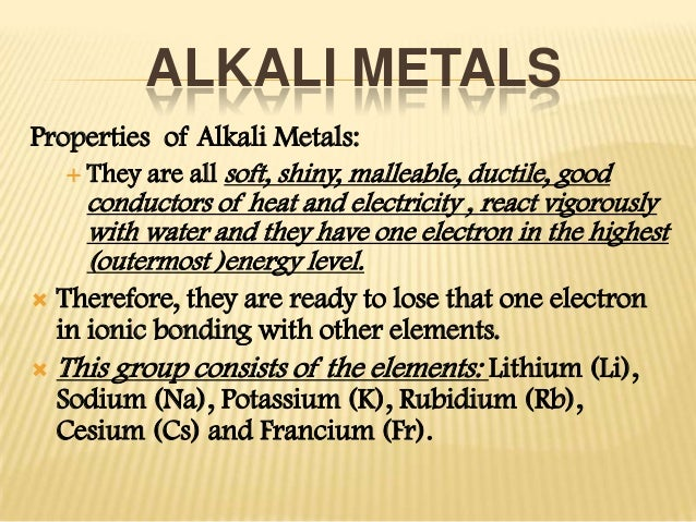Alkaline and alkaline earth metals 5 alkali metals properties urtaz