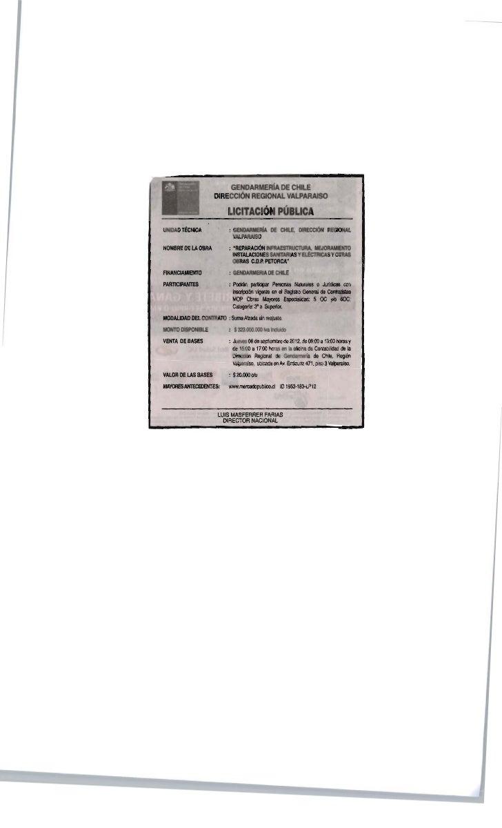 LLAMADO A LICITACIÓN PUBLICA CDP PETORCA  MERCURIO  02-09-2012