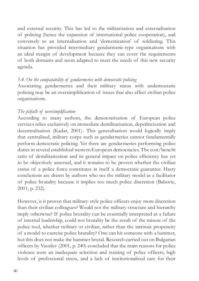 the governance of policing and security hoogenboom bob