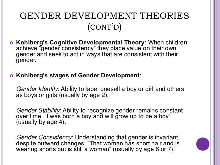 gender theories Theories of gender – ii social/environmental theories i social learning theory a three kinds of learning and how they apply to gender 1.