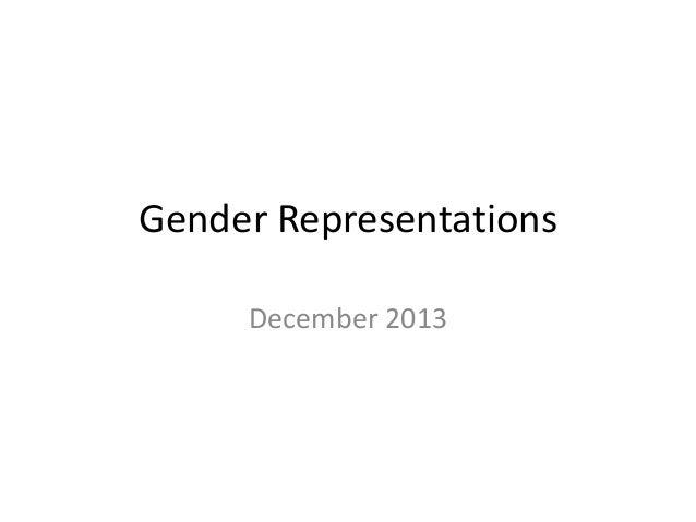 Gender Representations December 2013
