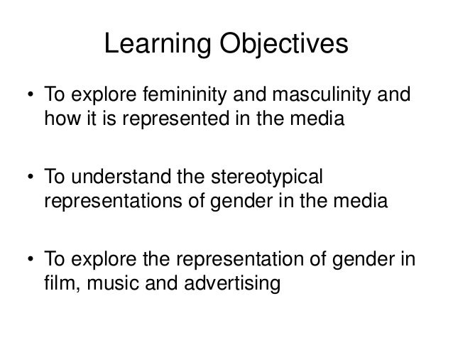 gender representation in the media essays Media representations of women and men are also changing, though not in straightforward ways  exposes and explores the representation of women in the media a .