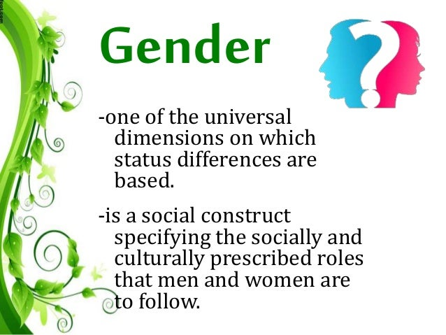 gender is a construct essay