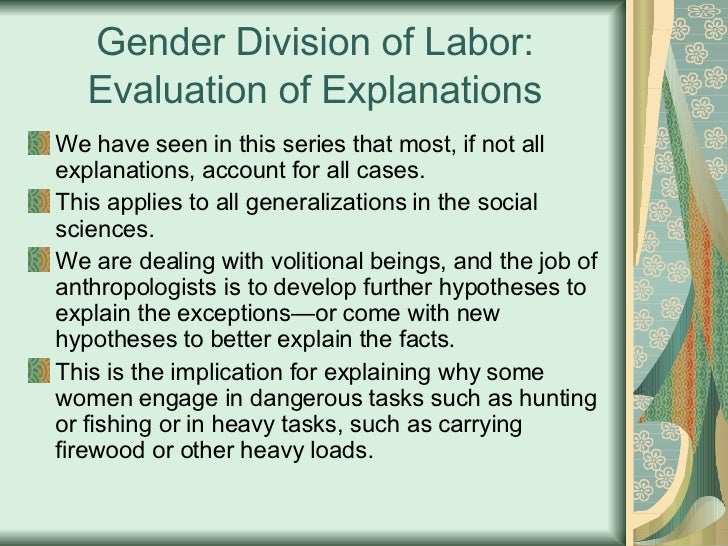 Sexualized division of labor definition