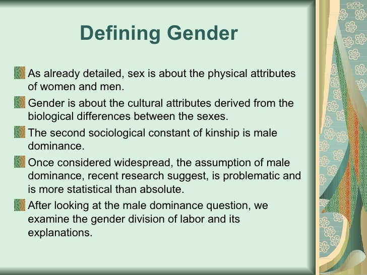 What is sociology definition of sex