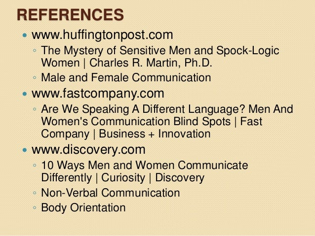 Gender differences in regard to verbal and nonverbal communication