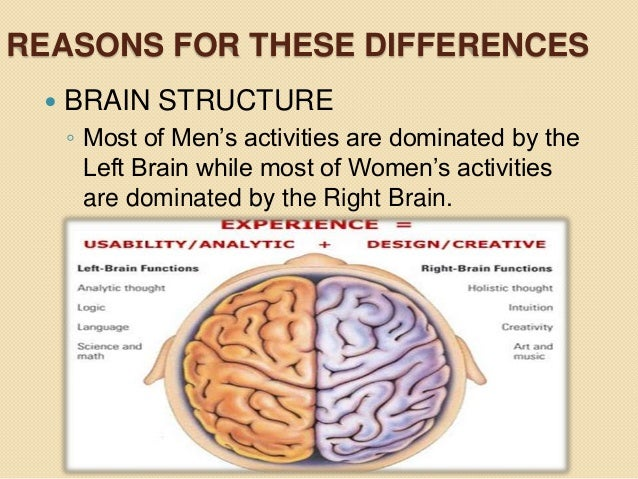 brains and gender essay The majority of today's psychologists agree that some of the differences exhibited by male and female brains are innate  in more gender-equal societies,.